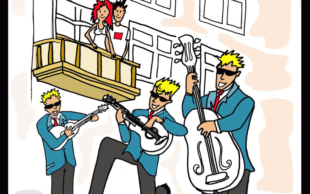 De Gasten nu te boeken via www.muziek-thuisbezorgd.nl